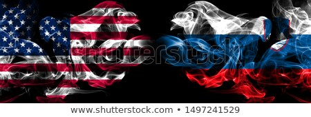サッカー 炎 フラグ スロベニア 黒 3次元の図 ストックフォト © MikhailMishchenko