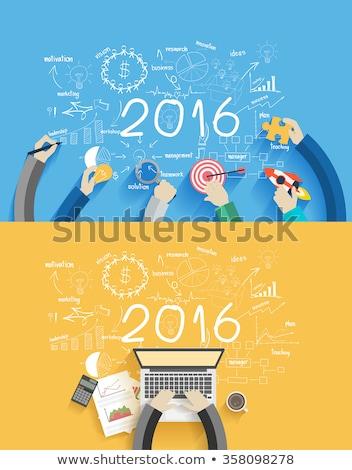 laptop · képernyő · költségvetés · 2016 · modern · munkahely - stock fotó © tashatuvango