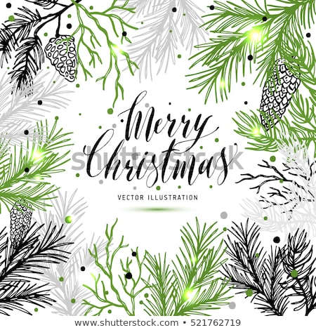 スプルース クリスマス 黒 1泊 緑 装飾 ストックフォト © romvo