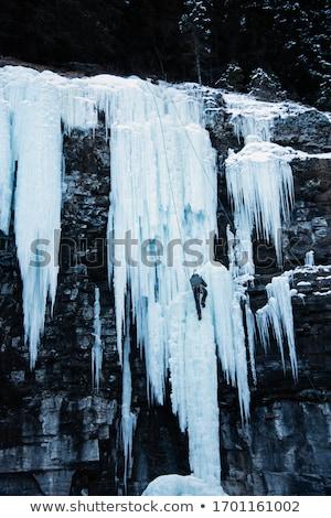 Verticale grotta scivoloso ripida ghiaccio muro Foto d'archivio © photosebia