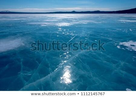 Zamrożone powierzchnia tle lodu wzór środowiska Zdjęcia stock © IS2