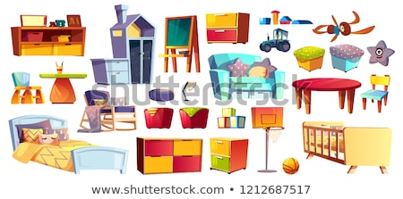 Bedside table vector cartoon illustration. Stock photo © RAStudio