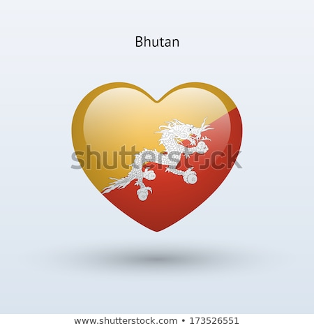 Bhutan heart flag stock photo © Amplion