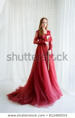 Mooie vrouw bloem foto vrouw meisje sexy Stockfoto © dolgachov