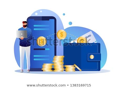 gouden · munten · vector · financiële · investering · financieren - stockfoto © studioworkstock