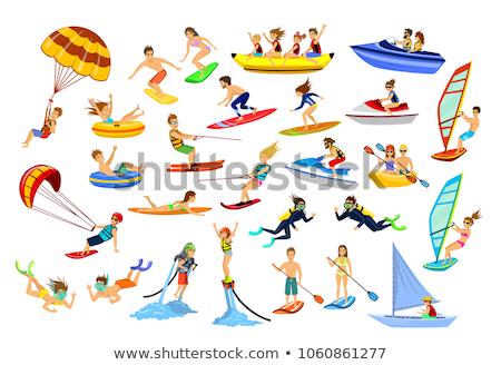 Man zwembad Kite shirt zwembad jonge man Stockfoto © IS2