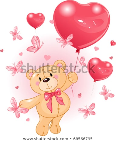 Teddy bear in mid air Stock photo © IS2