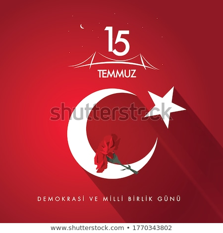 Graphic design and symbol of coup attempt in Turkey Stock photo © FoxysGraphic