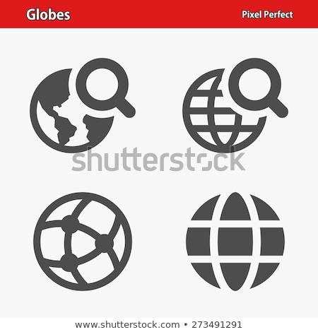 nagyító · világ · Föld · földgömb · illusztráció · zöld - stock fotó © cteconsulting