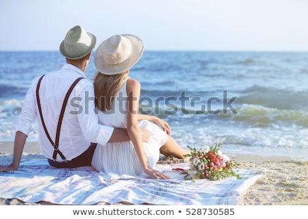 A Couple on Honeymoon Holiday Stock photo © bluering