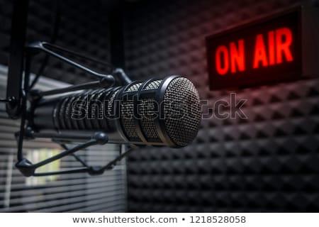 ストックフォト: ラジオ · 黒 · 孤立した · 白 · 音楽 · 世界