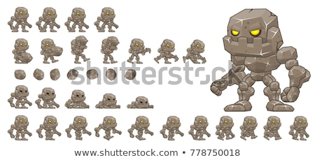 A sprite sheet jumping game template Stock photo © bluering