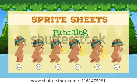 A sprite sheet punching game template Stock photo © bluering