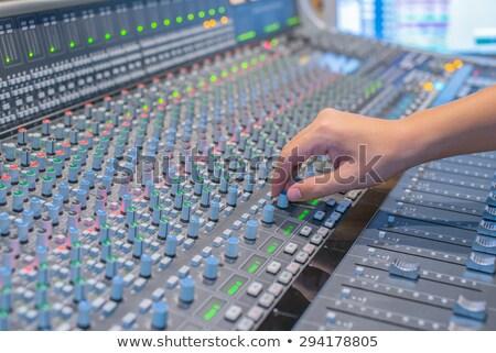 manos · consolar · director · de · trabajo · vídeo · sonido - foto stock © wdnetstudio