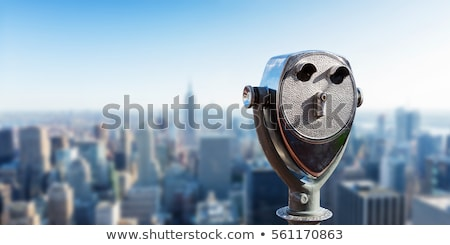 Binocular against observation deck view. Stock photo © boggy