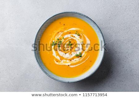 Crema calabaza sopa acción de gracias día vegetariano Foto stock © Illia