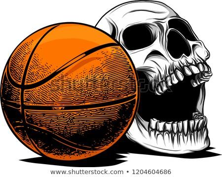 basketball skull. sport fans emblem. ball skeleton head. Symbol  Stock photo © popaukropa