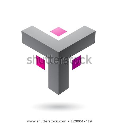 Black and Magenta Futuristic Corner Shape Vector Illustration Stock photo © cidepix