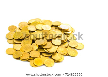 Moedas branco tesouro moeda bancário Foto stock © Zerbor