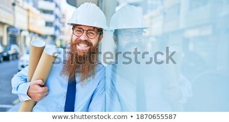empresário · em · pé · dentro · fora · homens · terno - foto stock © feedough