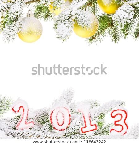 Christmas Decor Christmas tree on new year holiday gifts ornaments Stock photo © dmitriisimakov
