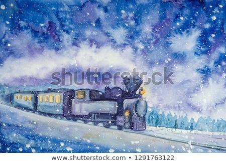 snelheid · trein · locomotief · geïsoleerd · witte - stockfoto © jossdiim