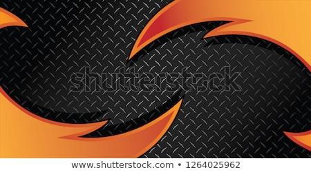 Razor Diamond Plate Textured Vector Background Illustration stock photo © jeff_hobrath