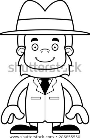 漫画 笑みを浮かべて 探偵 幸せ 帽子 ストックフォト © cthoman