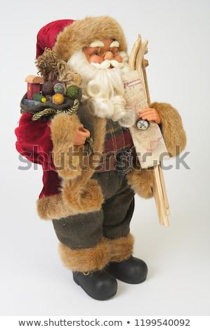 karácsony · dekoráció · mikulás · szobrocska · zöld · labda - stock fotó © boggy