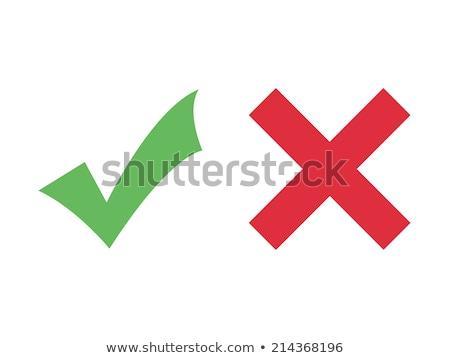 Badanie zielone sprawdzić ocena strony znacznik Zdjęcia stock © ivelin