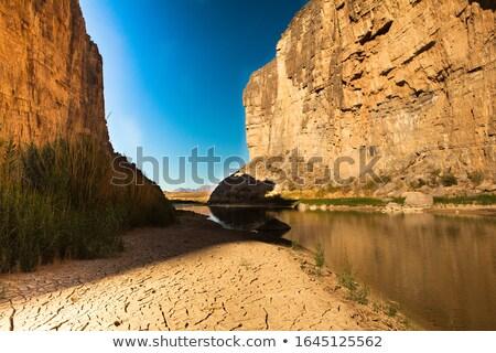 Puesta de sol río serpientes paisaje naturaleza Foto stock © lovleah