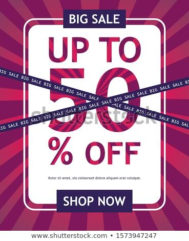Vásár szuper minőség akció 50 százalék Stock fotó © robuart