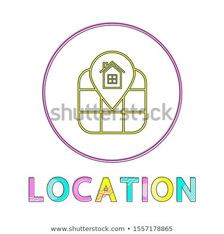 場所 識別 サービス リニア アイコン 地理的な ストックフォト © robuart