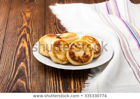 Stock fotó: Sült · túró · hagyományos · orosz · reggeli · felső
