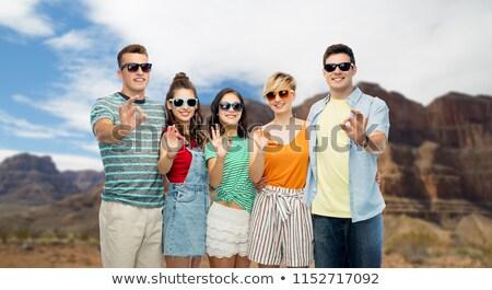 Amigos gafas de sol Grand Canyon viaje Foto stock © dolgachov