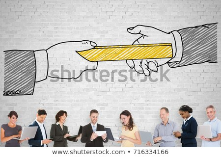 Person Holding Golden Relay Baton Stock photo © AndreyPopov