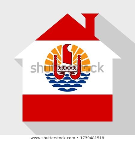 House with flag of french polynesia Stock photo © MikhailMishchenko