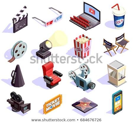 Cinema isometric concept icons Stock photo © netkov1