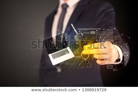 ビジネスマン · キー · 周りに · スーツ - ストックフォト © ra2studio