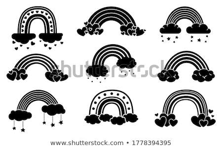 Abstract curve design silhouette set Stock photo © Blue_daemon