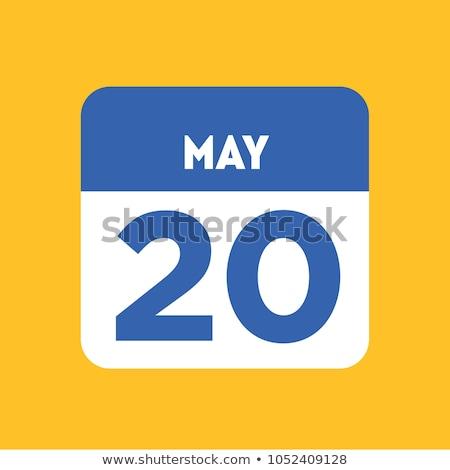 Mundo dia 20 calendário cartão férias Foto stock © Olena