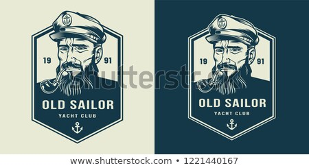 Sailor with a pipe and a ship Stock photo © netkov1