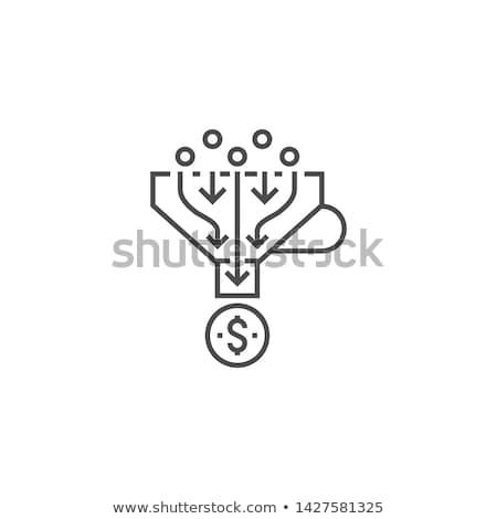 eladó · tölcsér · vektor · vonal · ikon · internet · marketing - stock fotó © kyryloff