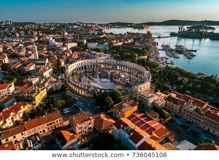 Arena Pula historic Roman amphitheater view Stock photo © xbrchx