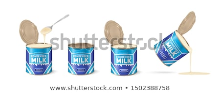 vector set of condensed milk Stock photo © olllikeballoon