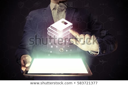 Online Library Internet Page, Books and Textbooks Stok fotoğraf © robuart