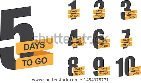 promotional banner with number of days left Stockfoto © SArts