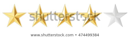 Voting concept rating FOUR golden stars 3D Stock photo © djmilic