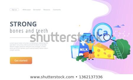 Calcium atterrissage page personnes saine Photo stock © RAStudio