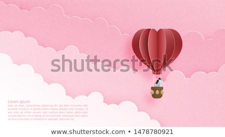 felhő · szívek · égbolt · buborékok · nap · légy - stock fotó © olehsvetiukha